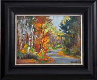 "New ""Into the Woods"" Palette Knife Fall Foliage oil painting by Niki Gulley"
