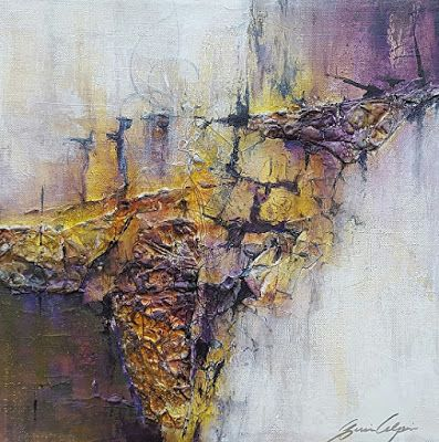 "Mixed Media, Contemporary Landscape Art ""A Kiss of Sunlight"" by Contemporary Artist Gerri Calpin"