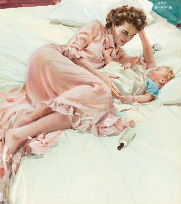 John Gannam's Watercolors of Motherhood