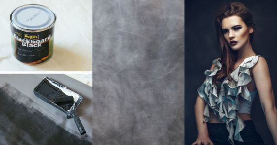 How to Make a DIY Mottled Backdrop for Just $30