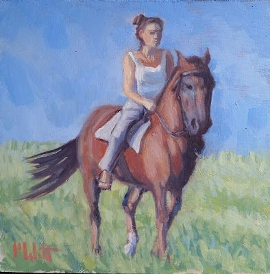 Horseback Riding Horse Art Equestrian Oil Painting Heidi Malott