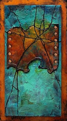"Contemporary Mixed Media Abstract Art Painting , ""Hidden Treasure"" by Colorado Mixed Media Abstract Artist Carol Nelson"