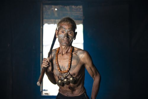 Portraits of the Konyak 'Headhunter' Tribe in India