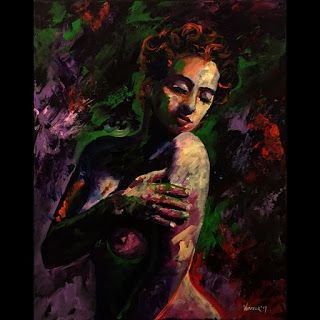 Mark Webster - Adhira 1301 Impressionist Portrait Acrylic Painting