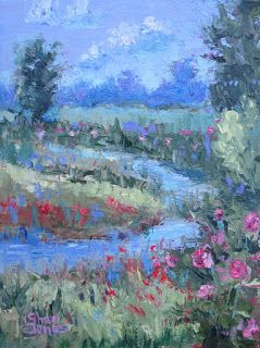 Landscape's Colorful Patterns, New Contemporary Landscape by Sheri Jones
