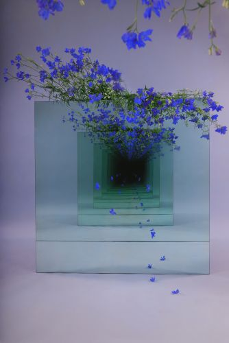 Mirrored Installations by Sarah Meyohas Create Infinite Tunnels Strewn With Dangling Flowers