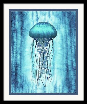 Jellyfish Watercolor Painting