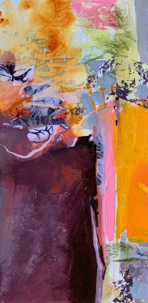 "Contemporary Landscape, Painting, Abstract Art ""DESERT SPIRIT"" by Intuitive Artist Joan Fullerton"