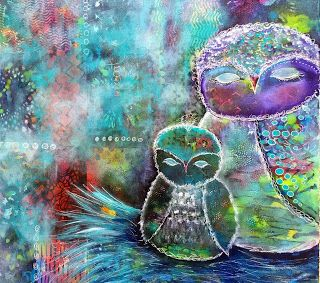 """Sweet Dreams"", Original Mixed Media Painting by Colorado Artist, Donna L. Martin"