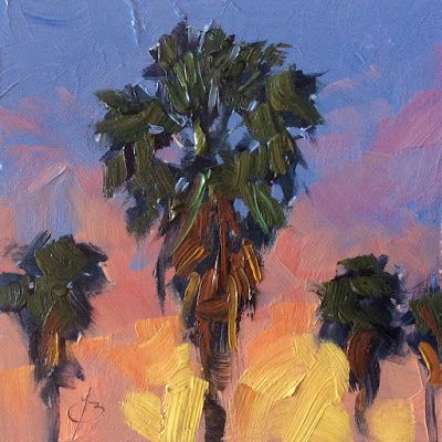 TWILIGHT, PALM TREES by TOM BROWN