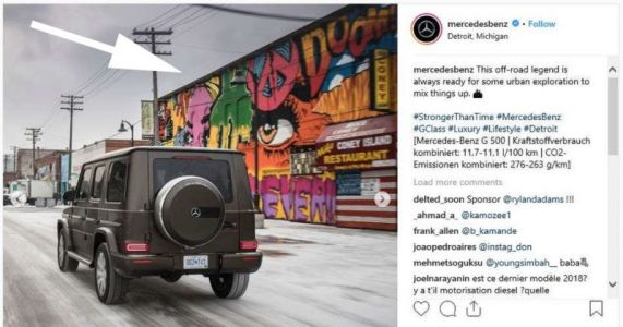Mercedes Sues Artists Over Right to Include Murals in Instagram Photos