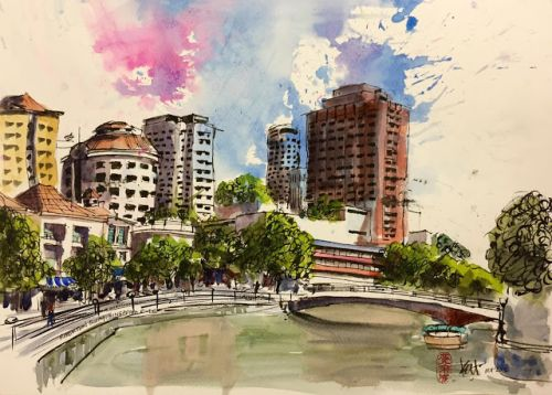 February Sketchwalk at Liang Court