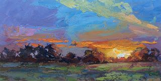 GIFT IDEA, 10x5 INCH OIL PAINTING by TOM BROWN
