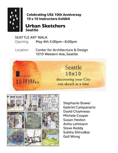Seattle 10x10 Exhibit through the month of May