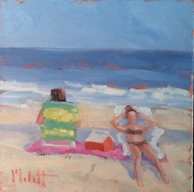 Spring Fever Beach Oil Painting Heidi Malott