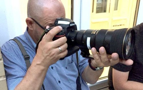 Nikon 500mm f/5.6 Spotted. It's TINY!