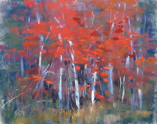 How to Start a Landscape Painting from an Abstract