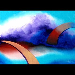 Mark Webster - Abstraction 25 - Abstract Landscape Oil Painting