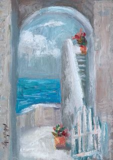 Ocean View by Contemporary Impressionist Niki Gulley
