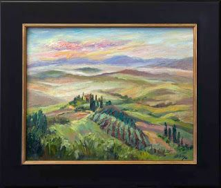 "New ""Misty Morning"" in Tuscany by Contemporary Impressionist Niki Gulley"