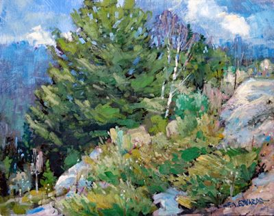 Junipers On A Rocky Hill