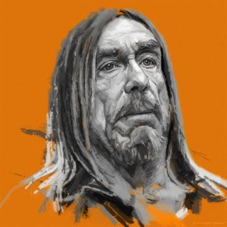Sketch of Iggy Pop