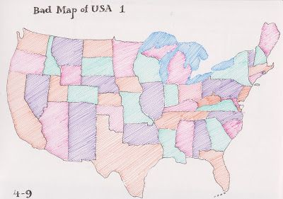 Daily art report 5 - maps of the USA