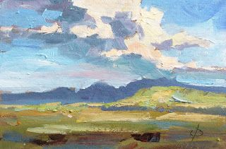 CLOUD STUDY, ORIGINAL OIL PAINTING by TOM BROWN