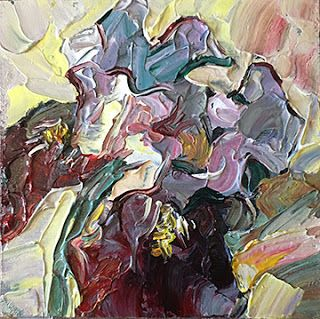 Iris Daily Painting by Contemporary Impressionist Niki Gulley
