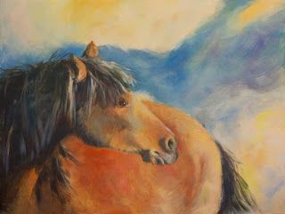 "Original Equine Painting ""THE-WILD-ONE-2"" by Colorado Artist Nancee Jean Busse, Painter of the American West"