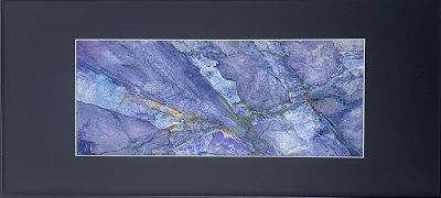 """Blue Art, Abstract Painting, Contemporary Art """"A VEIN IN THE BLUE"""" by Florida Artist Mary Ann Ziegler"""