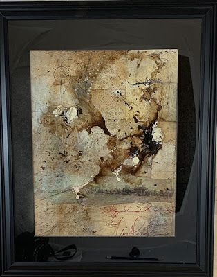"Abstract Art, Mixed Media, Contemporary Painting, Collage ""Sheldon Harvest"" by Texas Contemporary Artist Sharon Whisnand"