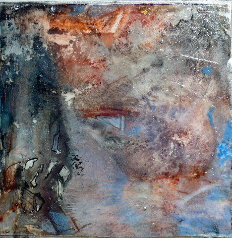 """Original Contemporary Abstract Painting """"ONYX"""" by Contemporary New Orleans Artist Lou Jordan"""