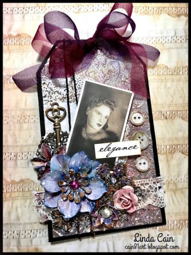 A Romantic Tag with New Finnabair Products