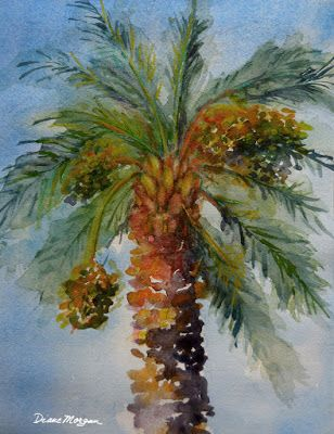"""It's a Date"" watercolor by Diane Morgan"