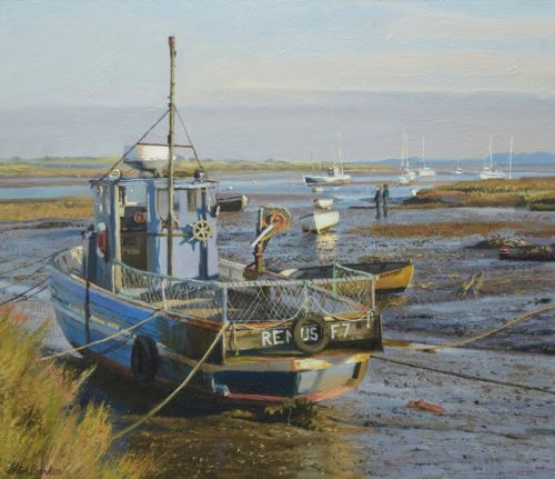 Remus and Fearnot at Brancaster Staithe