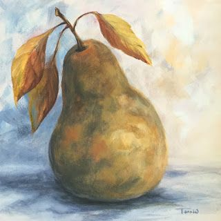 Day 7!!! 30 Paintings in 30 Days ~ Autumn Pear