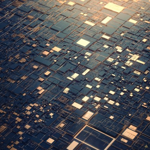 Landscapes of Glistening Digital Rectangles Formed and Subdivided by Algorithms