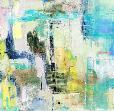 "Contemporary Abstract Expressionist Fine Art Painting, Mixed Media ""IF NOT NOW, WHEN?"" by Contemporary Expressionist Pamela Fowler Lordi"