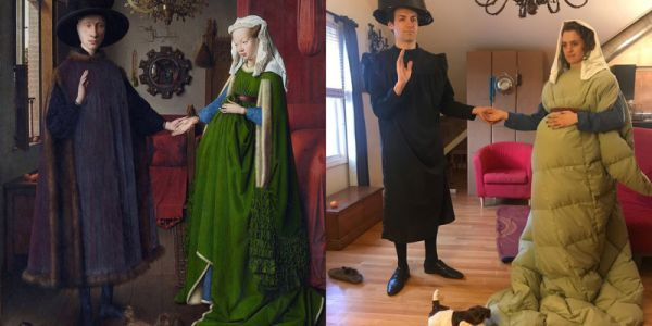 People are Recreating Classic Paintings as Hilarious Photos in Quarantine