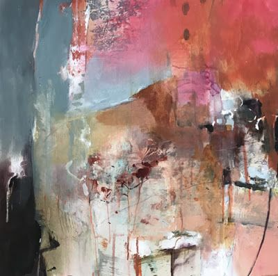 Abstract Mixed Media Landscape Painting