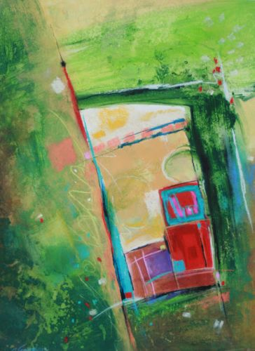 VIEW THROUGH A WINDOW, seven, by Carol Engles