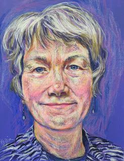 Pam's Portrait by Kim Blair