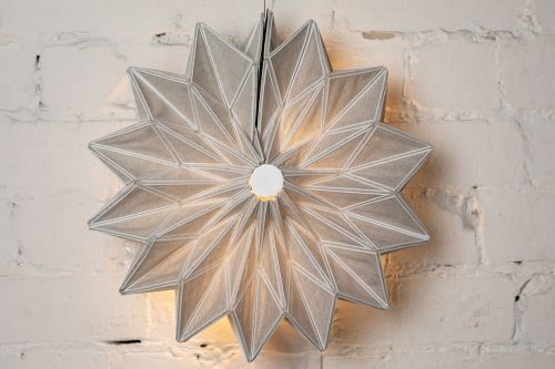 Conductive Origami by Yael Akirav Unites 3-D Printing and Textiles to Create Foldable Modern Light Fixtures