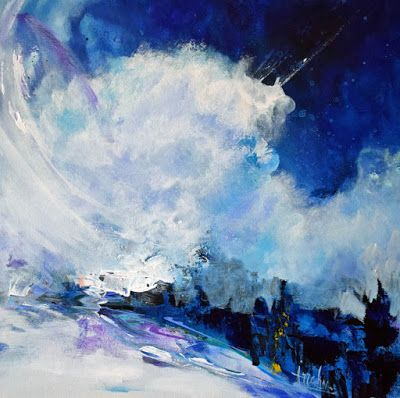 "Contemporary Abstract Seascape Painting ""Expanded Time "" by International Contemporary Seascape Artist Arrachme"