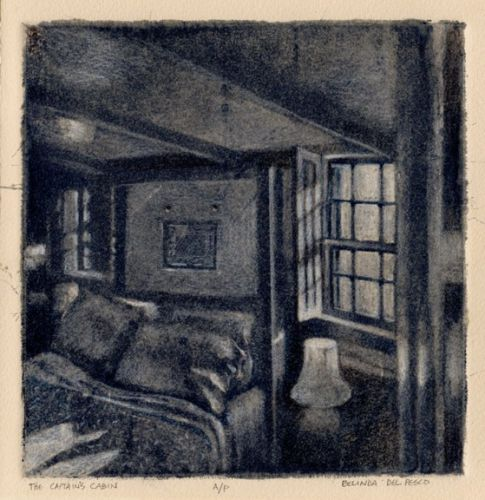 Making a Silk Aquatint: The Captain's Cabin
