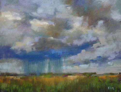 How to Paint Rain with Pastels