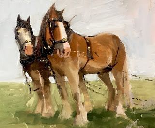 'Two Shire Horses'