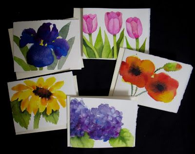 Watercolor Note Cards - SOLD