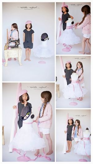 Future fashion designers.cute as could be!